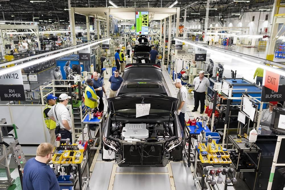 Produçaõ de carros da Toyota, a primeira a utilizar o Poka Yoke