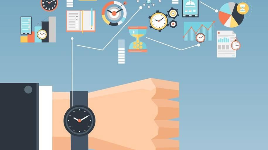 Ilustração mostrando uma Gestão de Tempo