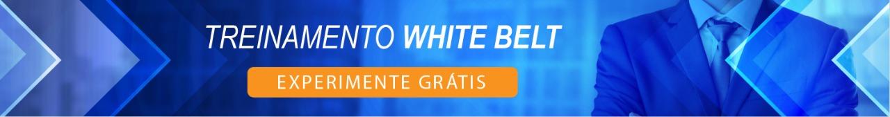Etiqueta mostrando que o curso White Belt tem desenvolvimento sustentável