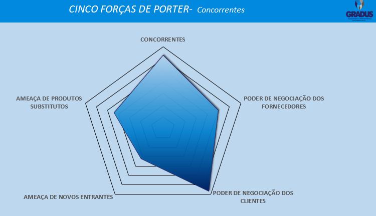 Gráfico explicando as 5 forças de porter