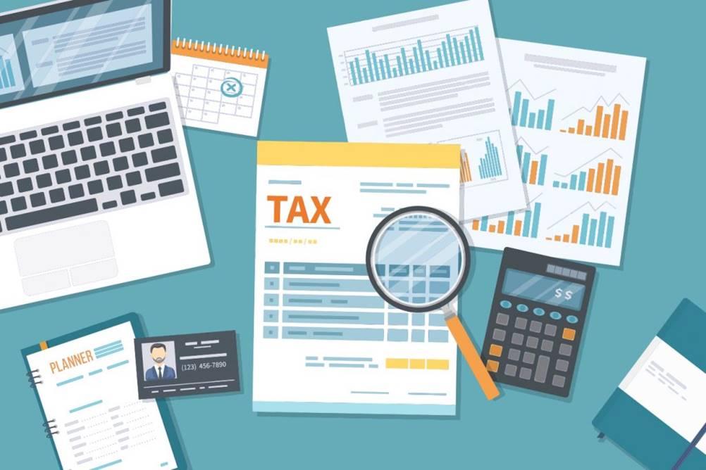 Figura mostrando os impostos a pagar em contas a receber