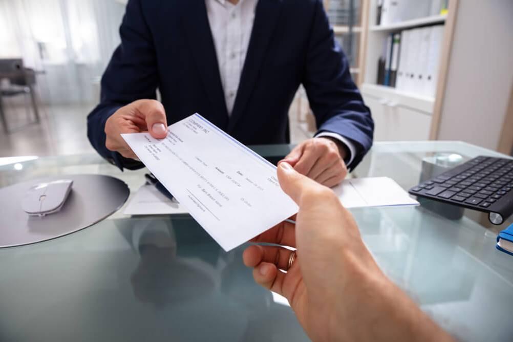 Imagem de Cheque do controle de cheques