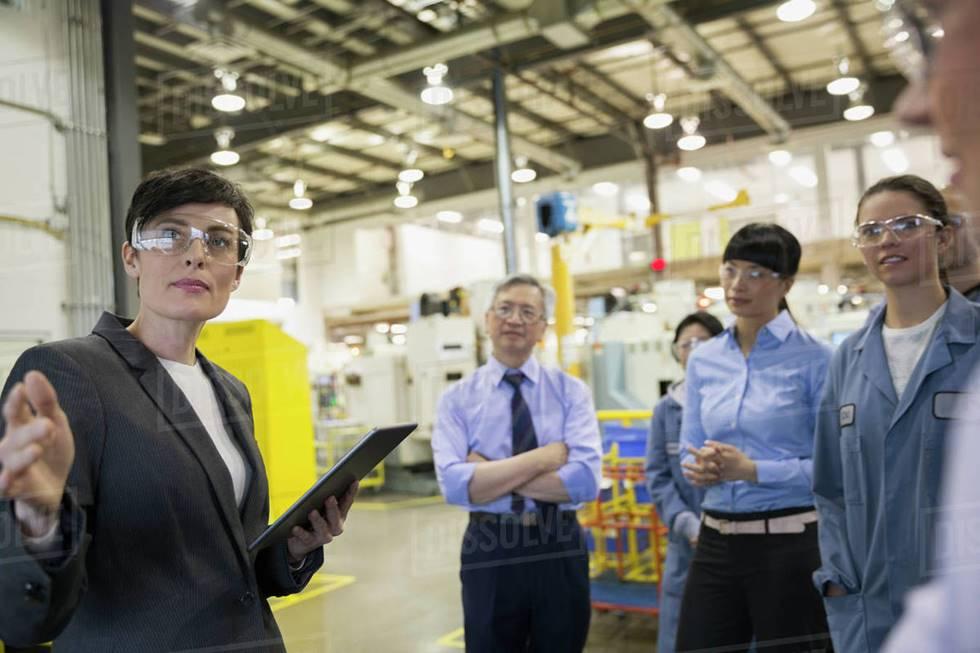 Foto mostrando reunião Lean Leadership
