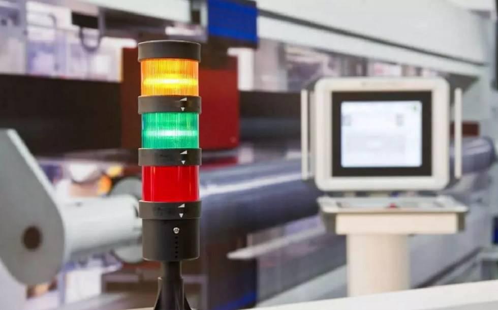 Foto mostrando um Andon em funcionamento em uma empresa de tecnologia