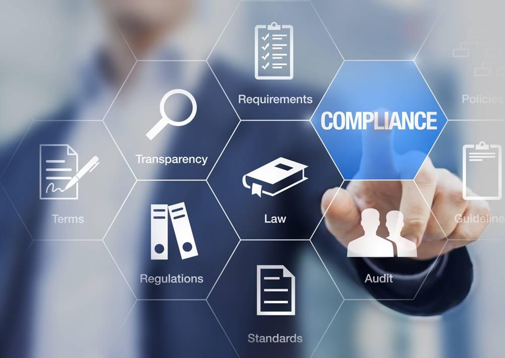 A foto mosta o compliance como uma parte integrante da administração de uma empresa