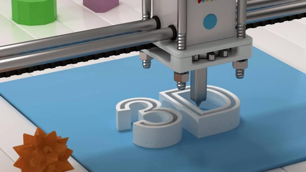Um exemplo de manufatura aditiva( impressão 3D)