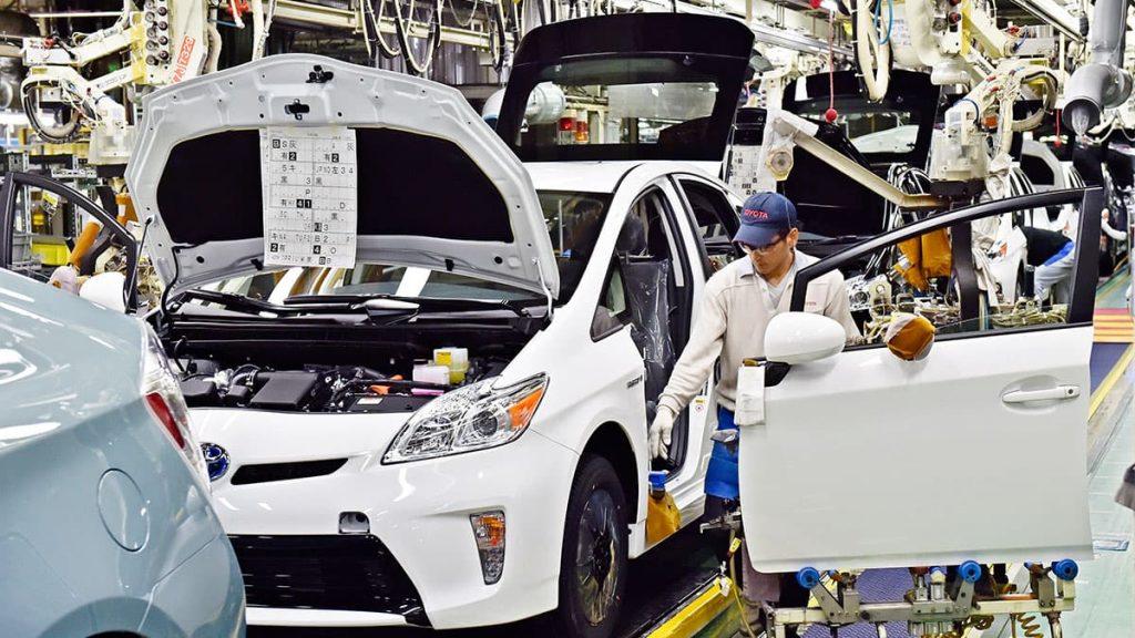 Na foto, temos o sistema Toyota de produção.