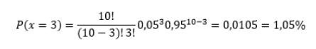 Aplicando os conceitos a equação de distribuição binominal