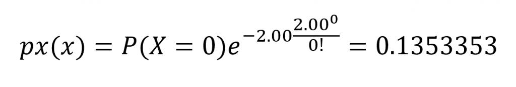 Temos o cálculo usando a fórmula de Poisson