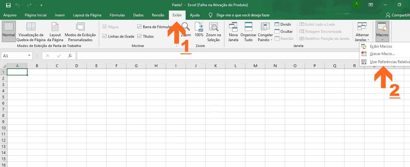 Instruções de como ativar a Macro Excel