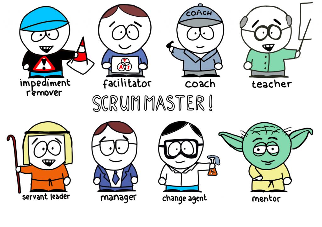 Na figura, estão dispostas as habilidades de um Scrum Master