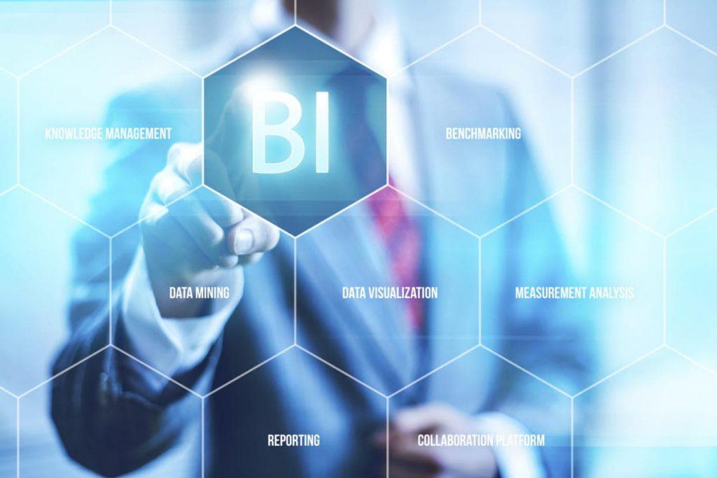 Na imagem, temos algumas características do Business Intelligence